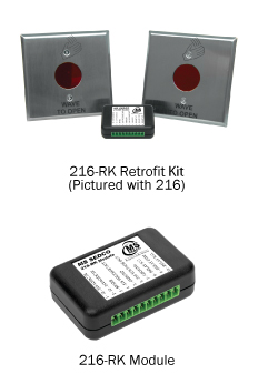 216-RK Retrofit Kit for Converting Mechanical Actuators to Touchless
