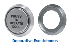 Decorative Escutcheons For Use With R4 and R6 Switches