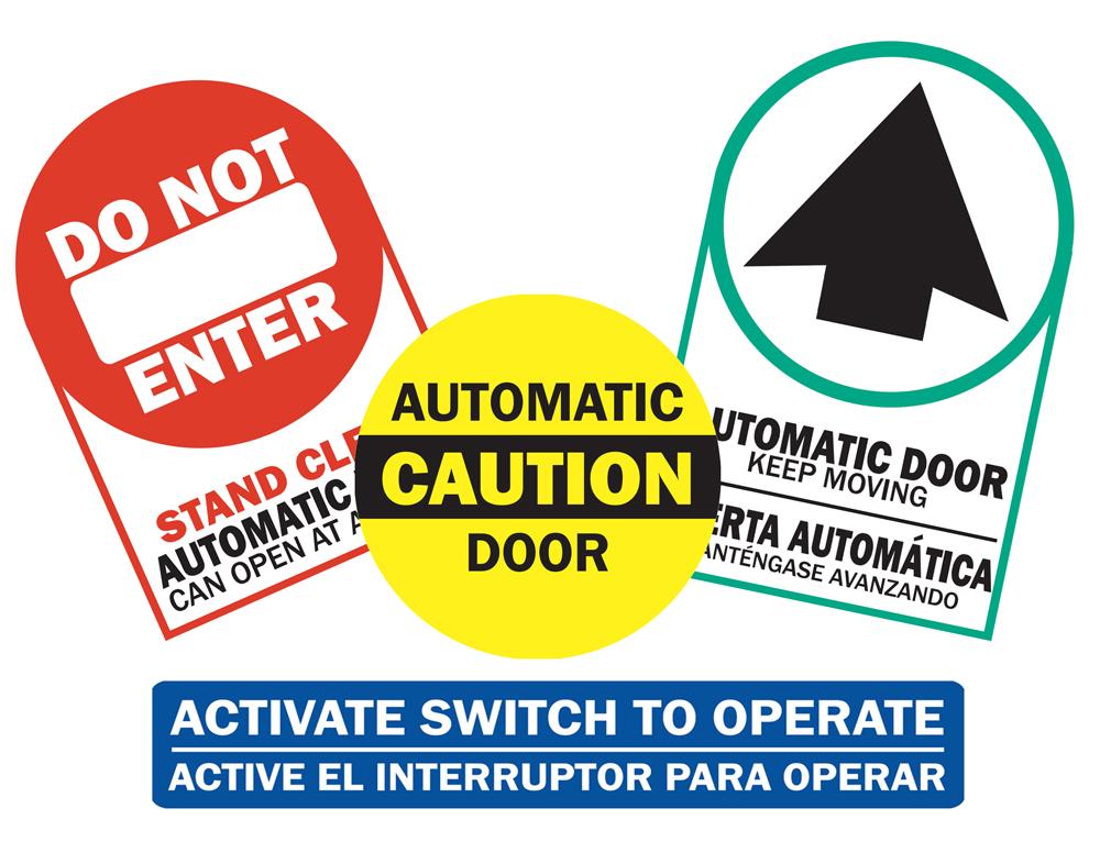 ANSI Compliant Door Safety Decals